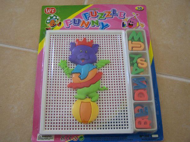 Brinquedo/puzzle antigo vintage selado coleccionismo