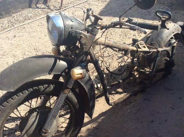 Мотоцикл МТ с коляской на разборку Запчасти к мотоциклу МТ