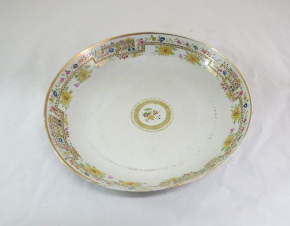 Prato Porcelana Chinesa Companhia Índias; Período Jiaqing 1796-25cm