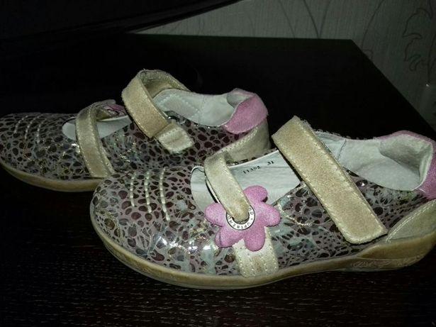 Кожанные туфли для девочки