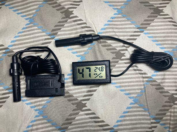 Электронный/цифровой выносной термометр-гигрометр градусник-влагомер