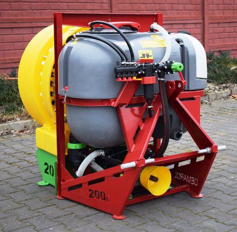 Opryskiwacz zawieszany sadowniczy 200 litrów przystawka wentylator