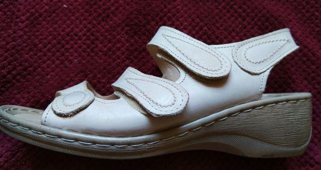 Grodecki - skórzane damskie sandały rozmiar 37.