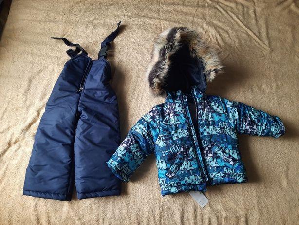 Детский зимний костюм (куртка и комбинезон) для мальчика на 2 года