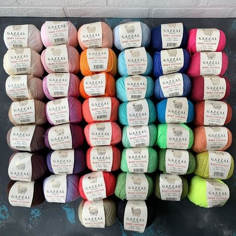 Пряжа для вязания Gazzal Baby Cotton