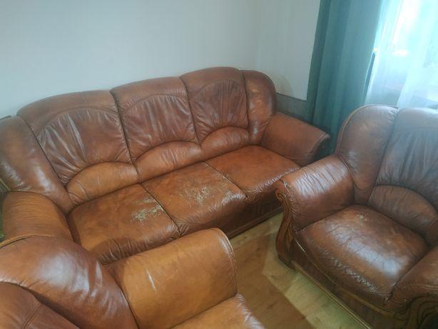 Sprzedam 3 - osobową sofę i dwa fotele