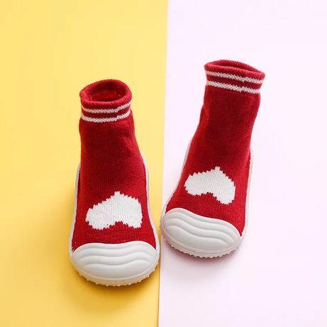 Детские носочки тапочки махровые на резиновой подошве чешки Attipas