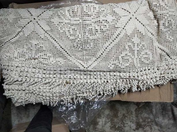 Colcha cama de casal em crochet