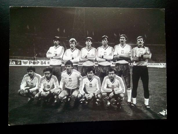 Piłka nożna Polska 16.11.1985 r. Chorzów Unikat! 50 zł.