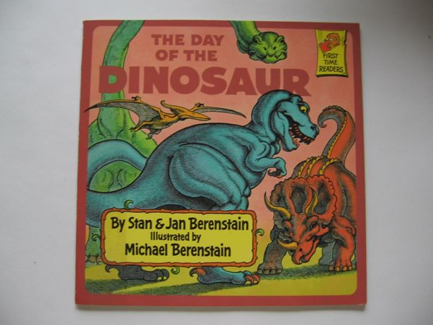 The Day of the Dinosaur. A First Time Reader. Książka dla dzieci.