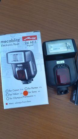 Lampa błyskowa Metz 24 AF1 + adapter do Sony