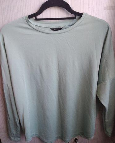 Zielona bluzka z długim rękawem - rozmiar XS/S