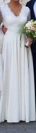 Piękna suknia ślubna.