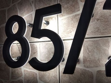 3D цифры и буквы с led подсветкой для адреса дома,адресная табличка