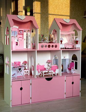 Домик для кукол/домик для барби/кукольный домик/ляльковий будинок