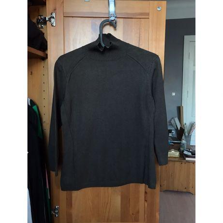 MaxMara Max Mara sweter golf bawełna khaki S 36