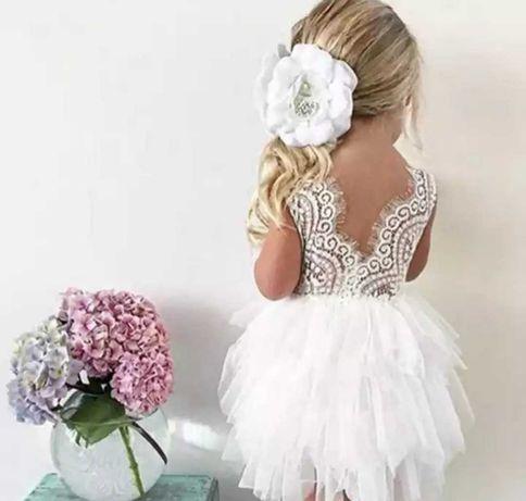 Sukienka chrzciny przyjęcie roczek tutu