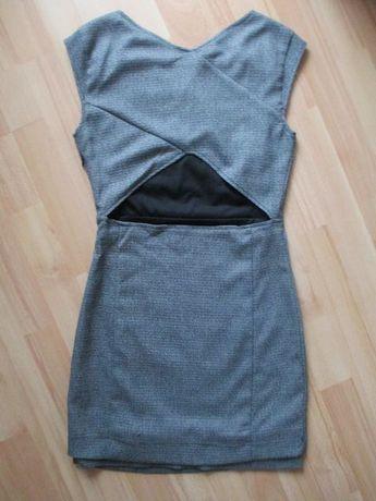 Pull&bear nowa sukienka szara dekolt na plecach 36