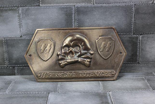 Blacha Pancerna Waffen SS III Rzeszy na pojazd Militarny z Mosiądzu