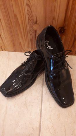 JAK NOWE wizytowe buty młodzieżowe - rozm.37, wkładka 24,5cm