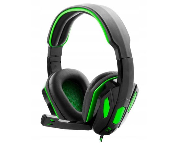Nowe słuchawki nauszne gamingowe dla graczy + mikrofon