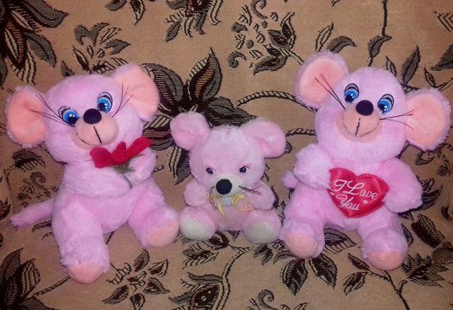 Семейство розовых мышек со звуком