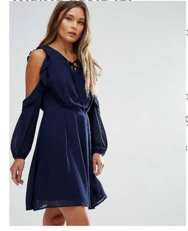 Vestido azul cerimónia