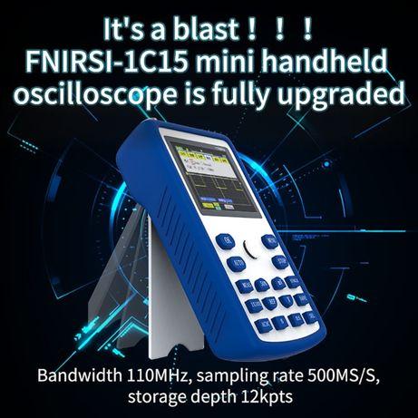 Обновленный! Fnirsi 1C15 портативный осциллограф 110МГц 500MS/s +ЗУ