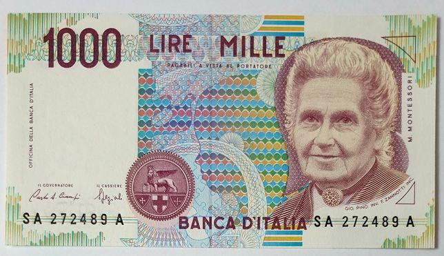 Włochy UNC banknot