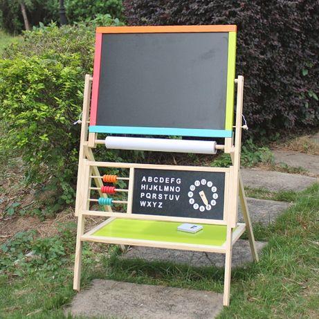 Dwustronna tablica edukacyjna dla dzieci drewniana TANIA WYSYŁKA!