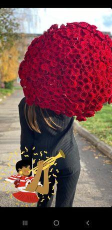 Троянди,троянда,101 роза,доставка квітів,букети,квіти,троянди оптом