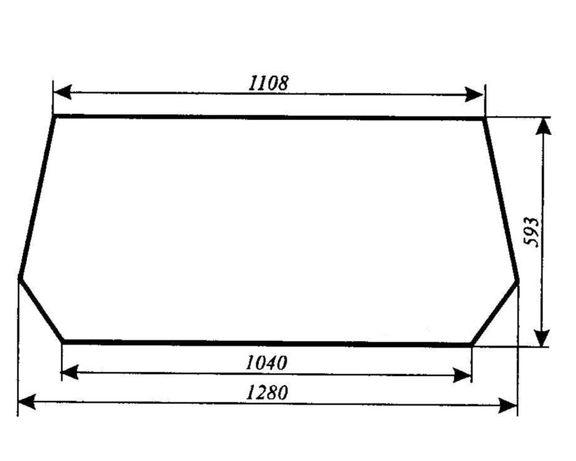Szyba tylna Ursus 3514, 4512, 4514, 5312, 5314, 5714, ACX180