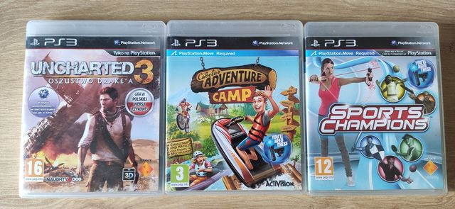 Gry na PlayStation 3 Move Uncharted 3 Sports Champions Adventure Camp