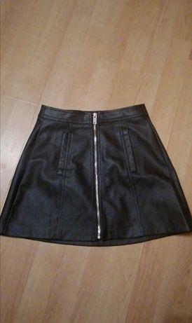 Skórzana spódniczka