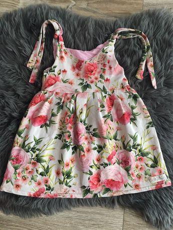 Sukienka na ramiaczkach dziewczynka handmade