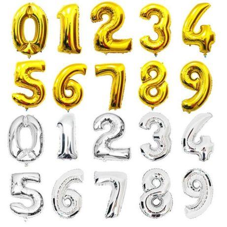 Шары фольгированные цифры 100 см шарики из фольги на праздник воздушны