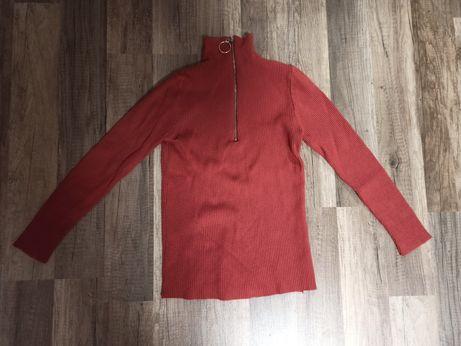 Nowy Sweterek z ozdobnym zamkiem xs/s