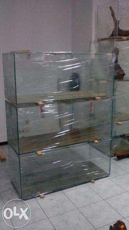Aquarios novos 120 x 50 x 50 em vidro 10mm com tampas de vidro correr