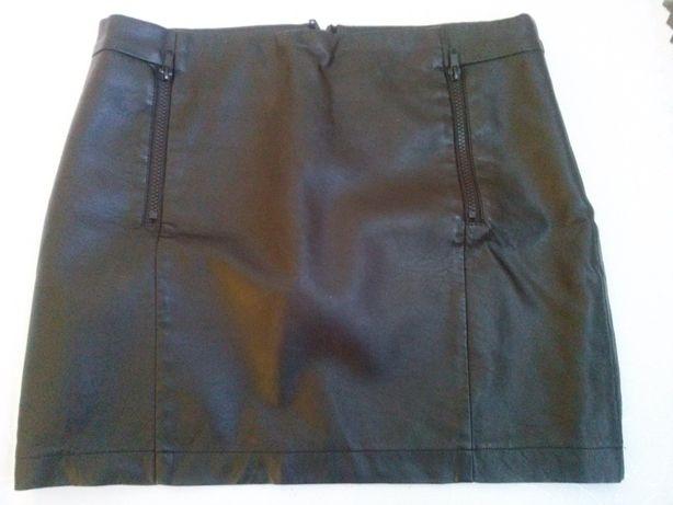 Spódnica czarna eko-skóra krótka