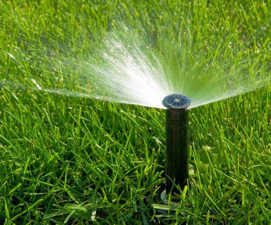 Автоматичний полив газону, рулонний газон!