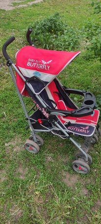 Детская прогулочная коляска Super Star Butterfly Red