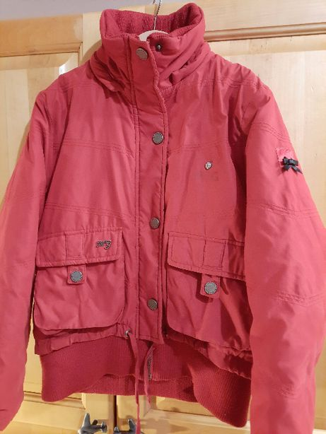 Czerwona kurtka dziewczęca zimowa 152 cm McGregor -ciepła
