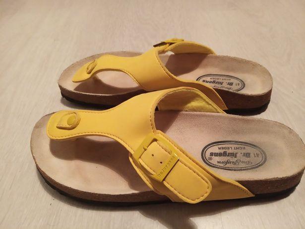 KLAPKI Dr Jurgens skórzane sandały piękne Birk edycja BIO