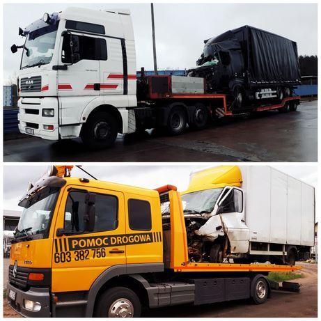 POMOC DROGOWA 24h/7 osobówki busy ciężarówki inne pojazdy
