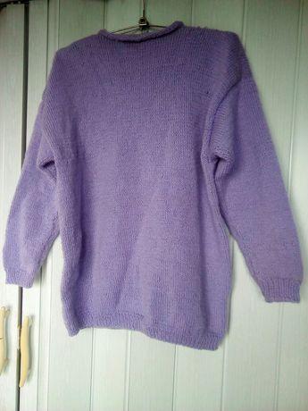 Liliowy sweter hand made
