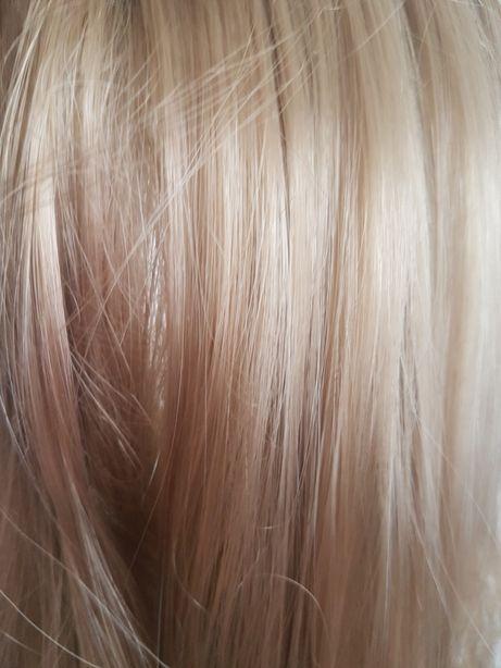 Włosy doczepiane 50cm średni jasny blond