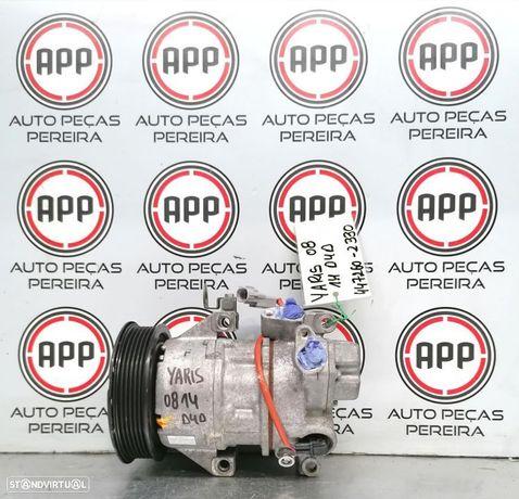 Compressor ar condicionado Toyota Yaris 1.4 D4D de 2008 referência 447260-2330. -