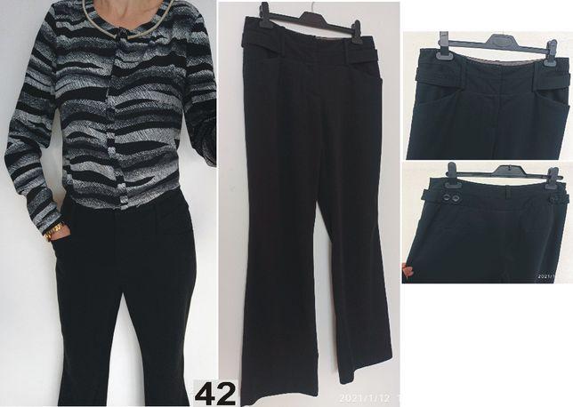 NEXT czarne spodnie z wysokim stanem szerokie nogawki rozmiar 42