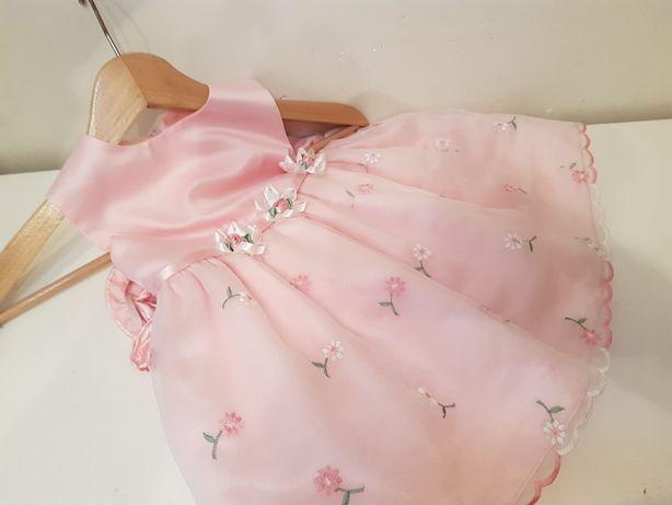 Sukienka Bonnie Baby 86 sukieneczka wizytowa na chrzest do 2 lat