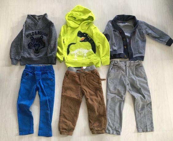 Mega zestaw ubrań dla chłopca 45szt 98 104